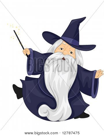 Plump Wizard - Vector