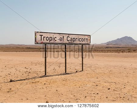 The Tropic of Capricorn or the Southern Tropic. The southernmost latitude where the Sun can be directly overhead