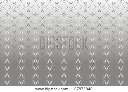 Silver background. Vector background with metallic luster.