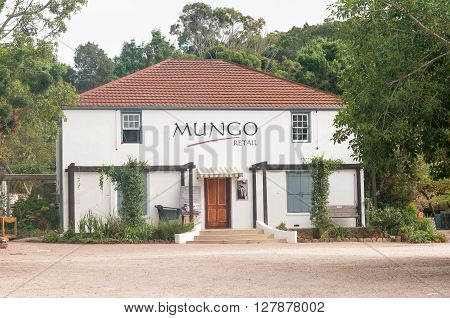 PLETTENBERG BAY SOUTH AFRICA - MARCH 3 2016: A shop in Old Nick Village in Plettenberg Bay a collection of shops owned by creative manufacturers and designers