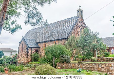 PLETTENBERG BAY SOUTH AFRICA - MARCH 3 2016: The St. Peters Anglican Church in Plettenberg Bay was consecrated on 14 August 1881