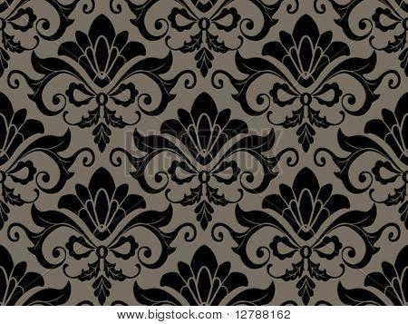 Seamless Damask Pattern - Vector