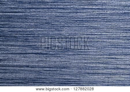 Fabric Texture Close Up of Blue Net Fabric Texture Pattern Background.