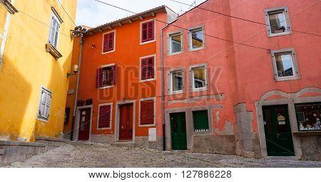 View of Labin little town in Istria Croatia