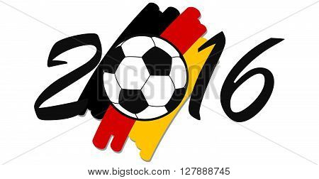 Lettering 2016 With German National Colors