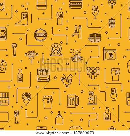 Beer Icons Background