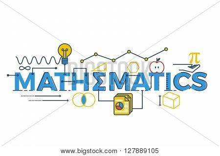 Mathematics Word Illustration