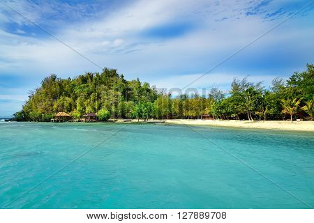 Beach On Bolilanga Island. Togean Islands. Indonesia.