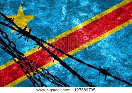 Democratic republic of the congo flag