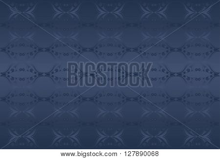 Classic dark blue background.  Chambray bray and blue whale colors. Decorative elements.