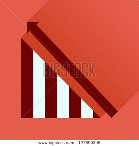 Flat icon with long  shadow growing schedule