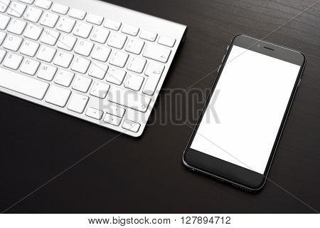 Smarphone On A Dark Table