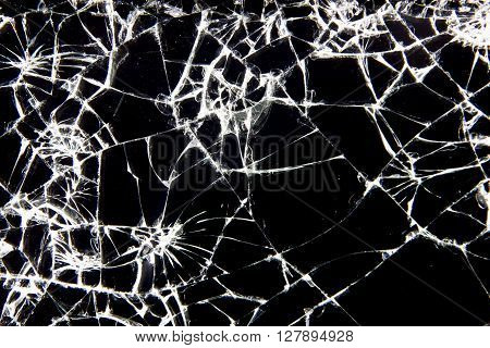 Broken glass texture or background concept for business.