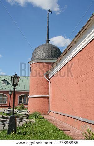MOSCOW REGION SERGIYEV POSAD RUSSIA - MAY 31 2009: Stable Yard near Trinity Lavra of St. Sergius