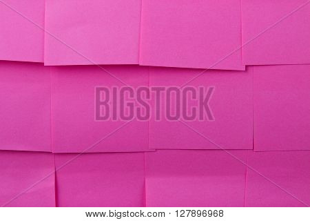 Sticky notes. Background of a pink sticky notes