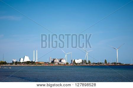 energy plant in a beautiful landscape near Copenhagen