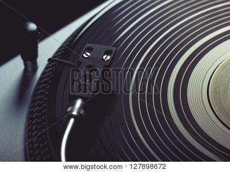 Turntable Playing Track From Vinyl.
