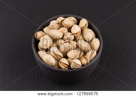 Pistachio Nuts In Bowl