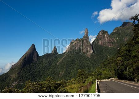 famous peaks of national park Serra dos Orgaos Brazil