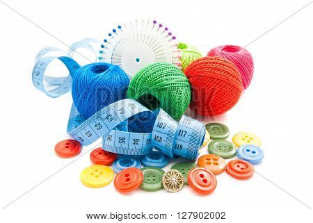 Meter, Plastic Buttons And Thread