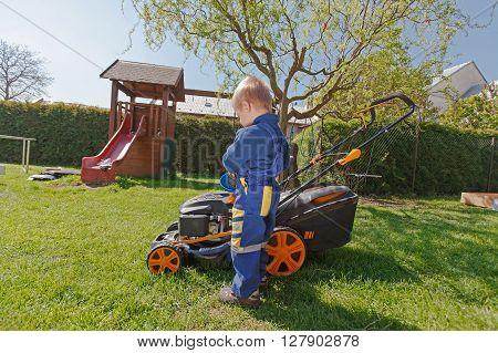 Spring Grass Mowing.
