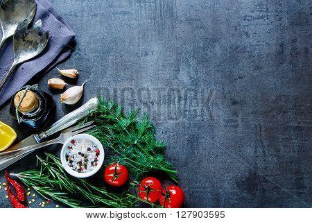 Vintage Food Background