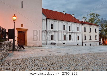 Town hall in the square of Spisska Sobota, Slovakia.