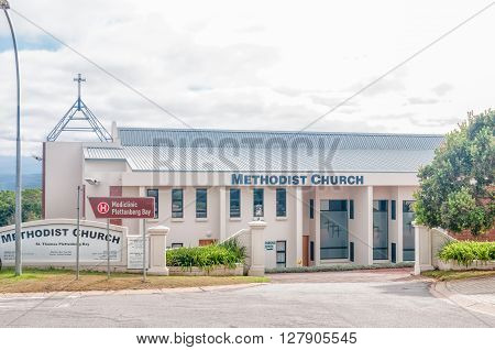 PLETTENBERG BAY SOUTH AFRICA - MARCH 3 2016: The Methodist Church in Plettenberg Bay a town on the Garden Route