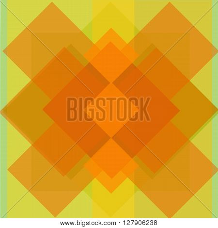 Vector illustration background of the rectangles. Orange intersecting rectangles.
