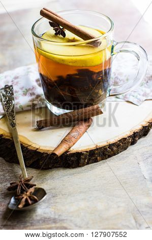 Mulled Tea With Apple