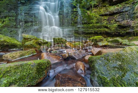 Midddle Black Clough Waterfall Peak District UK