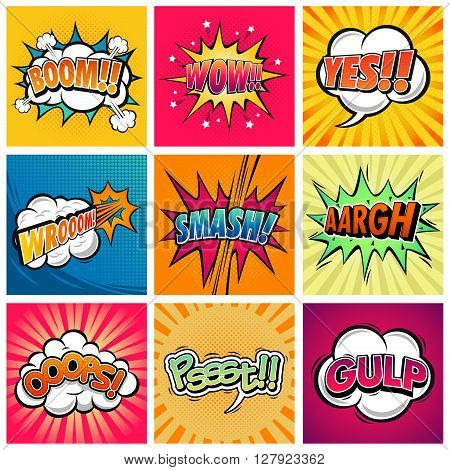 A vector illustration funny comic expression text
