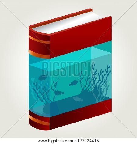 aquarium in book concept , fish in book aquarium