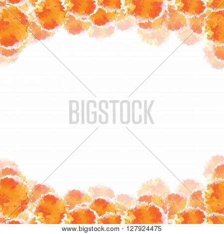 Abstract orange hand drawn watercolor background, stock vector