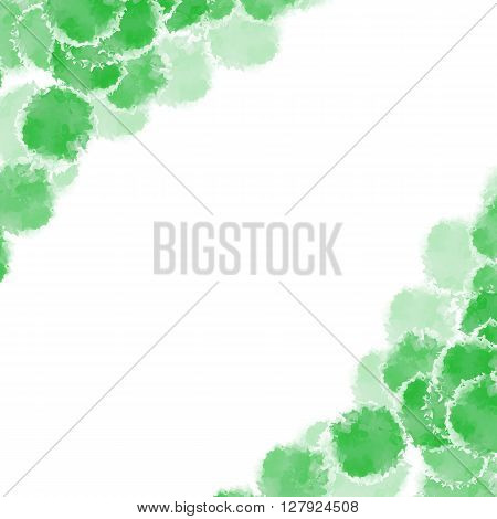 Abstract green hand drawn watercolor background, stock vector