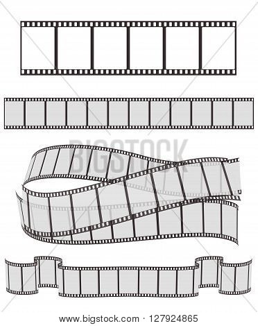 set of film strips on white for Your design. vector illustration