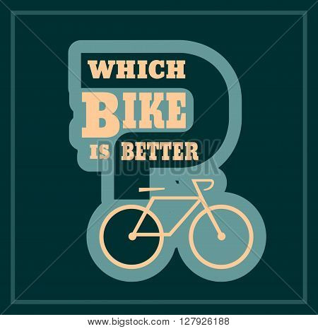 Which bike is better text. Bike choosing guide template