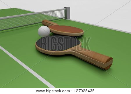 Ping Pong And Table