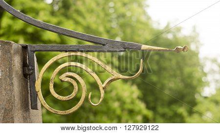 Decorative ornament made of old metal vintage