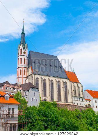 St. Vitus Church in Cesky Krumlov, Czech Republic