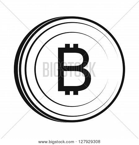 Thai currency symbol baht icon in simple style isolated on white background