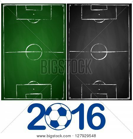 Green And Gray Black Board Soccer Fields