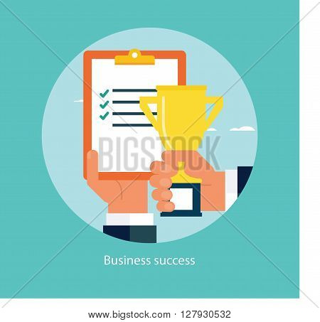Vector illustration of success in business concept