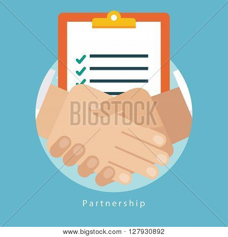Vector illustration of successful business partnership concept