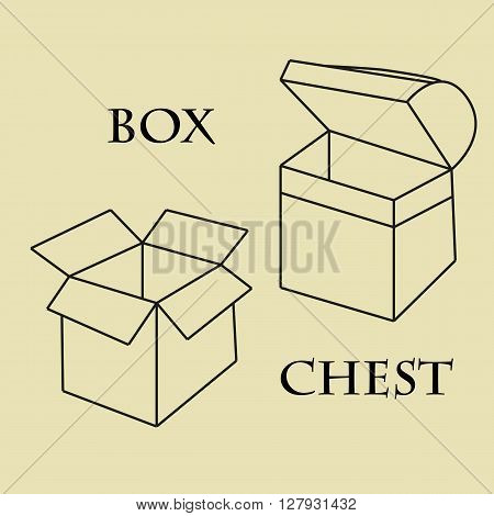 box and trunk circuit  storage vector background