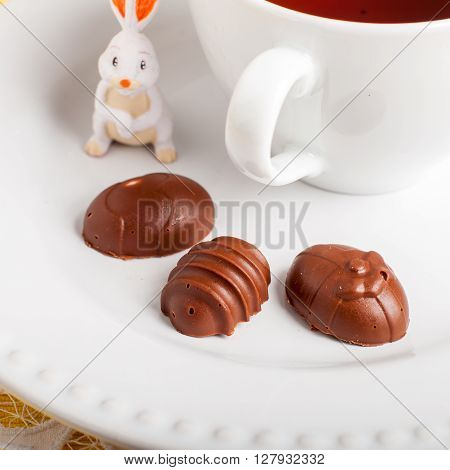 Easter Egg Shaped Chocolate Candies