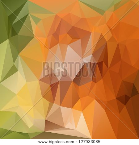 vector abstract irregular polygon background with a triangular pattern in natural green and orange colors