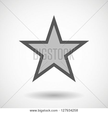 Vector Illustration Of   The Red Star Of Comunism Icon