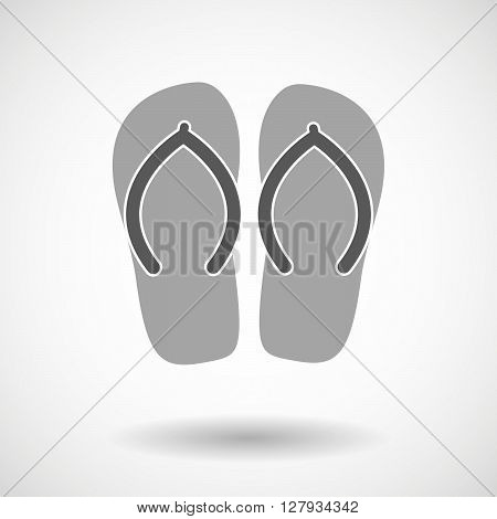 Isolated Vector Illustration Of   A Pair Of Flops
