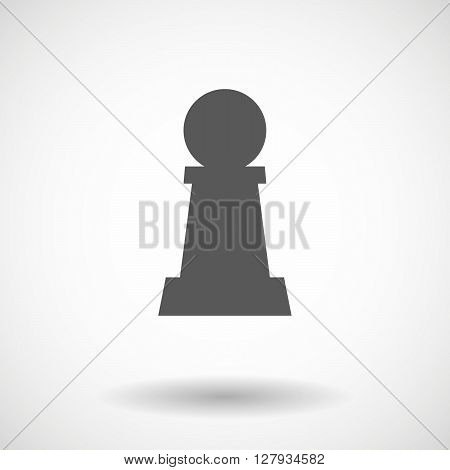 Isolated Vector Illustration Of A  Pawn Chess Figure